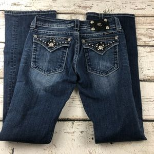 Miss Me Boot Cut Jeans Size 28 JE5317BX Distressed